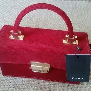 Zara corduroy box purse